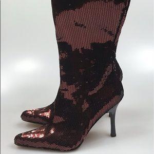 Rouge Women's Fashion Bronze Sequins Boots; 10.